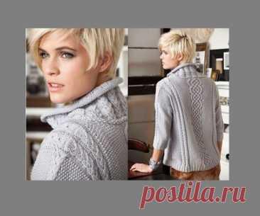 Свободный пуловер с рукавами 3/4 | вязание-нескучное хобби | Яндекс Дзен