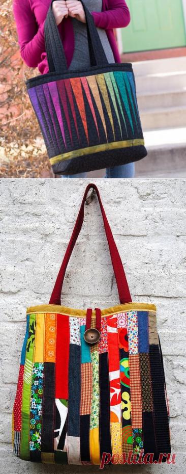 Лоскутная сумка - шоппер или сумка - пакет. Идеи для шитья, а также схемы и выкройки сумок.   Юлия Жданова   Яндекс Дзен