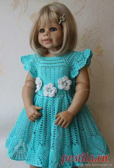 Мастер-класс смотреть онлайн: Вяжем платье для девочки крючком «Голубка» | Журнал Ярмарки Мастеров