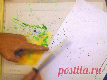 5 подручных техник рисования акварелью   Рисуем дома! ИЗО   Яндекс Дзен