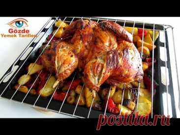 Это мой любимый рецепт! Цыпленок в духовке! С легкими овощами. рецепт курицы.
