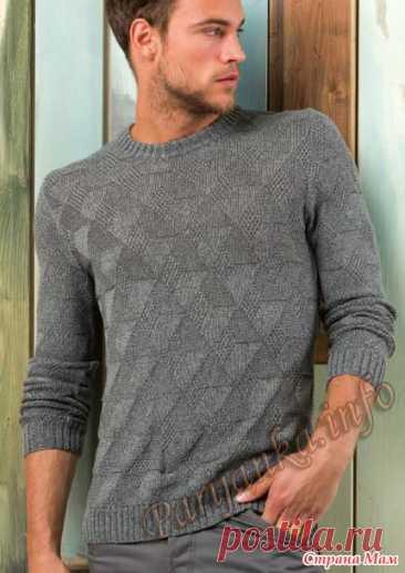 Идея пуловера взята из сайта Парижанка (ПУЛОВЕР (М) 26*218 FAM №4775). Пряжа: Огре (100% шерсть, 450м/100 гр, в мотке 50 гр., ниточка мягенькая, после стирки чуть распушилась). Вес изделия: 310гр. (6 полных моточков и чуть-чуть) Cпицы: резинка - 2,5, основное полотно - 3 Источник: https://www.stranamam.ru/post/10627315/
