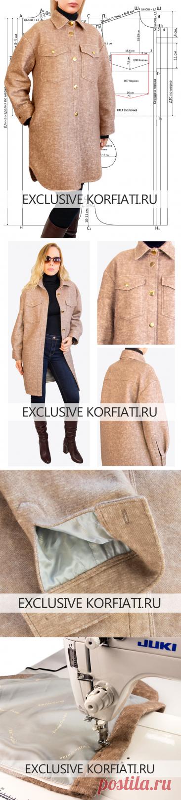 Выкройка пальто-рубашки от Анастасии Корфиати