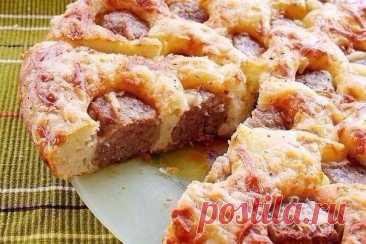 Обожаю этот простой рецепт и это интересное блюдо: Пирог с фрикадельками