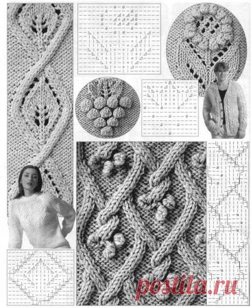 Легкие способы вязания косичек спицами- ложные косы- 8 схем. | NataliyaK | Яндекс Дзен
