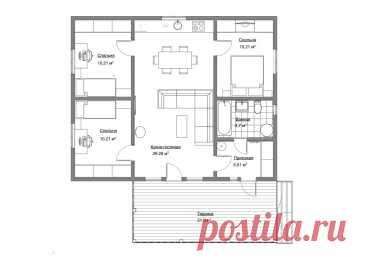 Современный проект с очень удобным зонированием помещений. План,фасады   Проекты Домов. Строительство.   Яндекс Дзен