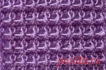 Двухсторонний узор Ажурные ячейки спицами (видео и фото мк)