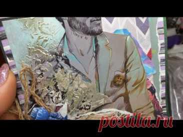 скрапбукинг/мужская  открытка
