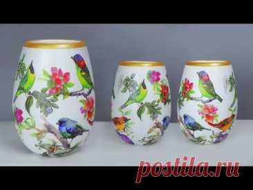 Paper flower vase Look Like Ceramic flower vase    Cement flower vase making
