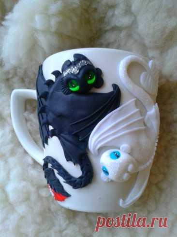 ,,как приручить дракона ,чашка,полимерная глина,лепка: 220 грн. - Поделки / рукоделие Желтые Воды на Olx