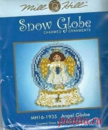 Mill HIll MH16-1935 Snow Globe - Ангел Глобус - Вышивка крестиком Связь / загрузка (только ответ) - Выкройки для вышивки крестиком Scanned-PinDIY.com