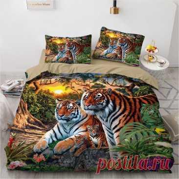 3D Bedding Sets Leopard Custom Duvet Quilt Cover Set Comforter Bed Linen Pillowcase King Queen Full Size 140*210 Home Texitle | Дом и сад | АлиЭкспресс