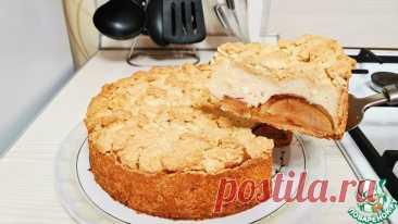 Яблочный пирог с творогом Кулинарный рецепт
