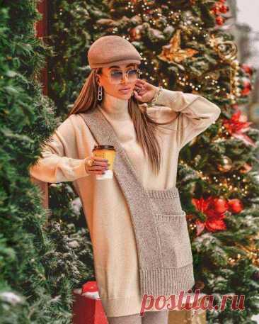 С чем носить и сочетать тёплые платья: 15 модных вариантов