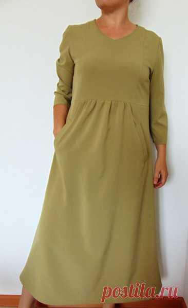 Платье с завышенной талией для женщин. Выкройка и пошив