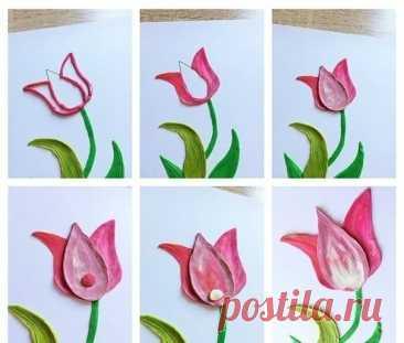 Рисуем пластилином открытки