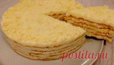 Торт «Пломбир» без выпечки: самый простой рецепт