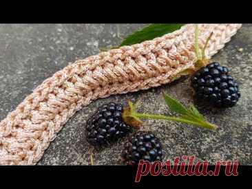 Вяжем плотный декоративный жгут крючком. 🐉 crochet pattern. 🐛 Оригинально и просто!