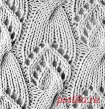 Новый узор. Блог pattern_knit_crochet  Источник: https://www.instagram.com/p/CRGmyurrjoL/