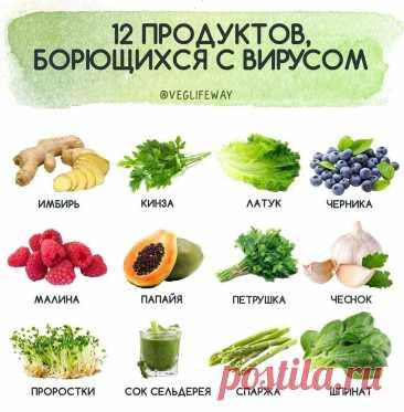 12 продуктов борющихся с вирусом