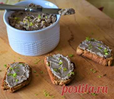 Грибной паштет с фундуком рецепт с фото пошагово