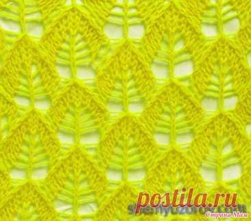 Узоры с листиками - Вязание - Страна Мам