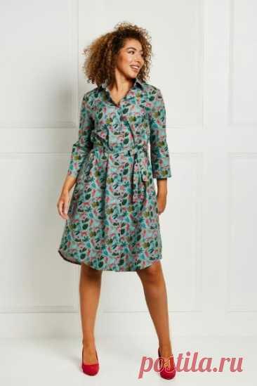 Женское платье-рубашка  Размеры выкройки: 8-24 UK