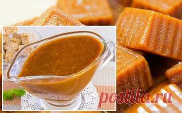 Карамельный соус, три варианта приготовления