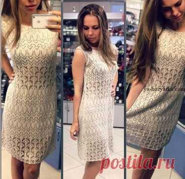 Стильное платье спицами схемы и описание. Связать стильное платье спицами