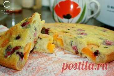 Простой и очень вкусный пирог с фруктами – Лучшие рецепты из моей кулинарной книги!