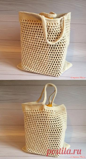 Вязаная сумка авоська крючком - Вязание - Страна Мам