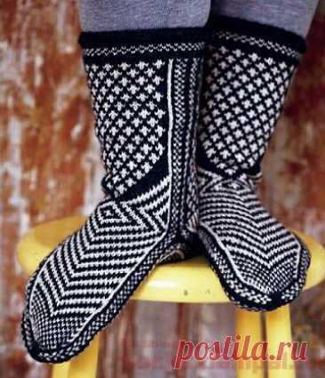 Вязаные носки «Семейные» | ВЯЗАНЫЕ НОСКИ