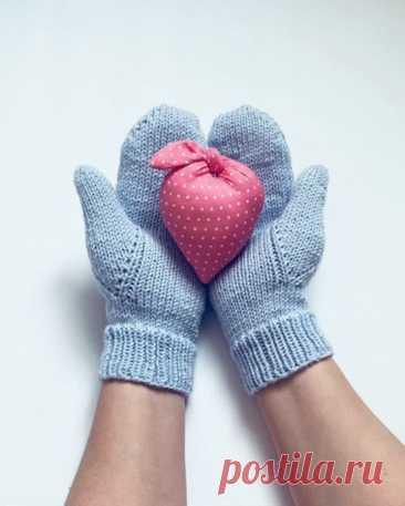 Как вязать палец на варежке — интересный способ (Вязание спицами) — Журнал Вдохновение Рукодельницы