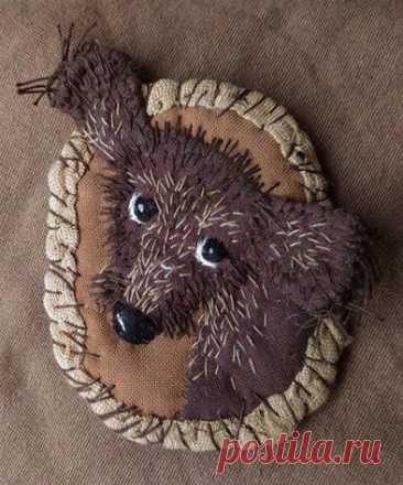 #брошь #собака #рукоделие #украшения