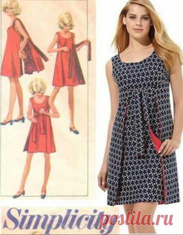 Интересное платье, без бокового шва + Комбинезон и фартук.   Хобби не модистки   Яндекс Дзен