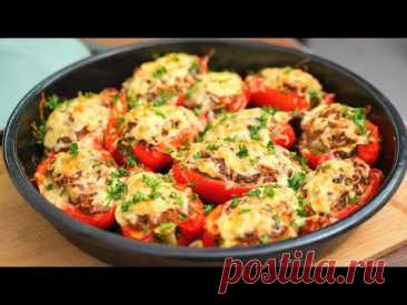 Фаршированные перцы по-новому!Очень вкусный и простой рецепт фаршированного перца с фаршем в духовке