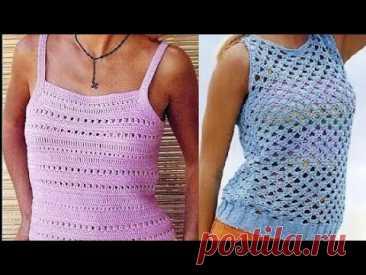 Женские топы крючком со схемами - Women's Crochet Tops with Patterns