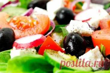 Греческий салат - классический рецепт   Вкусные кулинарные рецепты