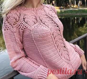 Интересный узор для нежного пуловера