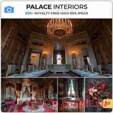 PHOTOBASH - PALACE INTERIORS Коллекция роскошных внутренних снимков, собранных из разных европейских дворцов и королевских поместий. Снимки включают декадентские залы, спальни, большие приемные, столовые, библиотеки, кабинеты, коридоры и детали королевского внутреннего убранства. Название: PHOTOBASH - PALACE