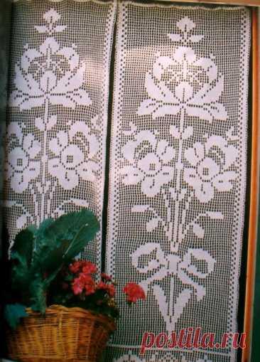 Филейная занавеска для окна