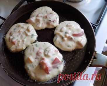 Завтрак на УРА: оладьи со вкусом пиццы