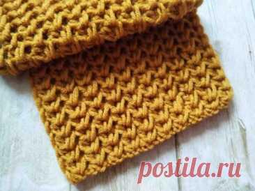 Уютный шарф спицами простым узором » «Хомяк55» - всё о вязании спицами и крючком