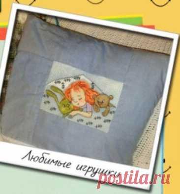 cхема для вышивки крестом Любимые игрушки из буклета Улыбка