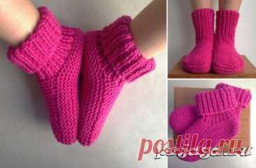 Вязаные носки и тапочки крючком и спицами - Результаты из #10