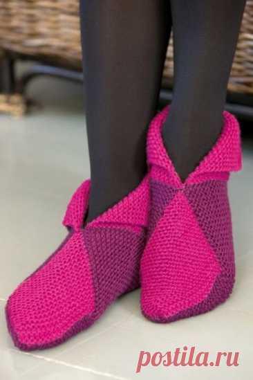 Носочки~следки очень удобны и заменяют домашние тапочки (Вязание спицами) — Журнал Вдохновение Рукодельницы