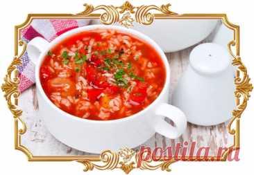 #Суп #с #фаршем, #рисом и #сладким #перцем  Этот #густой, #наваристый и #сытный #суп точно понравится любителям фаршированных перцев, ведь в нём практически такие же ингредиенты.  Время приготовления: Показать полностью...