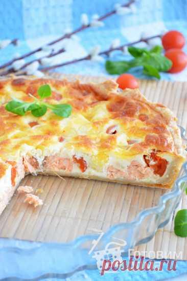 Итальянский киш с лососем и моцареллой - пошаговый рецепт с фото на Готовим дома