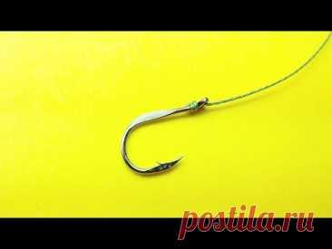 Лучший рыболовный узел про который ты не знал. Как привязать крючок к леске. Узел восьмерка - YouTube