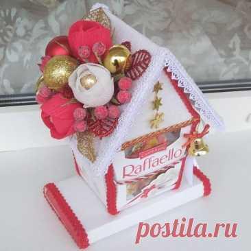 Идеи создания сладких зимних домиков на подарок
